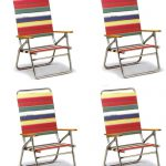 High Boy Folding Beach Chair by Telescope – Set of 4