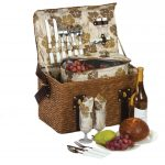 Woodstock 2 Wicker Picnic Basket for 2 by Picnic Plus