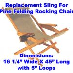 Pine Folding Rocking Chair Replacement Sling With Pillow