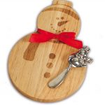 Snowman Cutting Cheese Board by Picnic Plus