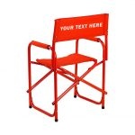 EMBROIDERED Personalized All Aluminum 18″ Table Height Directors Chair
