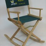 EMBROIDERED Personalized Gold Medal Folding Rocking Directors Chair