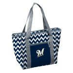 Milwaukee Brewers Chevron 30 Can Cooler Tote