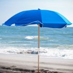 Frankford Umbrella 7.5 ft. Fiberglass Rib Commercial Beach Umbrella with Wood or Aluminum Pole