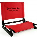 EMBROIDERED Personalized NEW Stadium Chair Gamechanger Bleacher Seat with Optional Arms