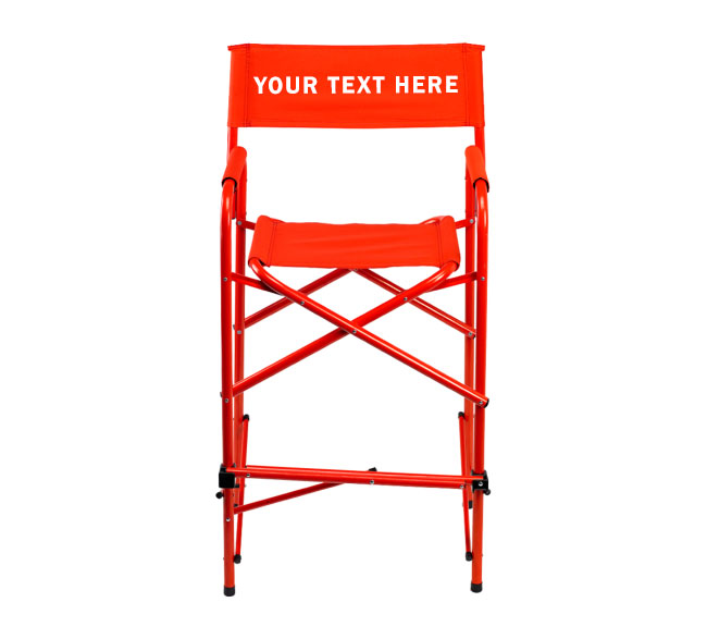 4af244f8d4 IMPRINTED Personalized All Aluminum 30″ Bar Height Directors Chair ...