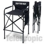 "IMPRINTED Personalized ""Quad Style"" Tall Aluminum Directors Chair"