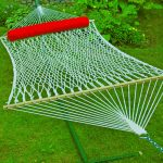 Algoma Net 13′ Cotton Rope Hammock w/Pillow and Hangers