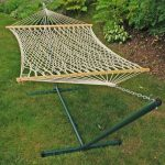 Algoma Net Cotton Rope Hammock and Frame Combination