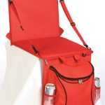 Backpack Stadium Seat with Attached Cooler