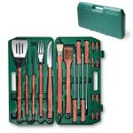 The 18 Piece BBQ Set with Carrying Case by Picnic Time