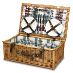 The Newbury Suitcase-Style Picnic Basket by Picnic Time