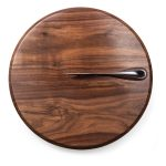 Solstice Black Walnut Cutting Board and Cheese Knife Set by Picnic Time