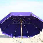 Canvas 7 1/2′ Metal Frame Beach Umbrella with Wood Pole