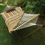 Cotton Rope Hammock, Stand, Pad and Pillow Combination (Tan) by Algoma Net