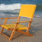 Oak Folding Mini Sand Chair