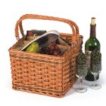 Tivoli Insulated Wicker Wine Tote by Picnic Plus