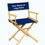 EMBROIDERED Personalized 18″ Table Height Classic Directors Chair
