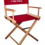 EMBROIDERED Personalized 18″ Table Height Commercial Directors Chair