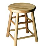 Table Height 18″ Commercial Solid Oak Bar Stool