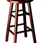 Counter Height 24″ Oak Top Swivel Bar Stool
